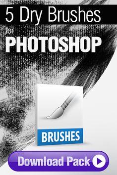 Photoshop Brushes: 5 Dry Brushes for Photoshop http://pixelstains.net/5-dry-brushes-photoshop/