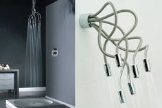 High End Modern Shower Head Design , Wide Range Selection Of Shower Fixtures: Modern and Most Sophisticated Shower Heads For Your Contemporary Bathroom Look In Bathroom Category Double Shower Heads, Innovation, Adjustable Shower Head, Shower Fixtures, Ideas Para Organizar, Modern Shower, Dream Wall, Shower Tub, Decoration