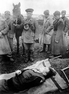 Last farewell to a fallen comrade, 1943.