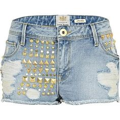 Denim and studs, a perfect combination