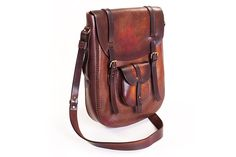 Large shoulder bag DiRounded 201  #leather #handmade #romania