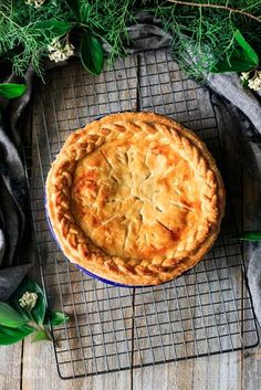 Chicken and leek pie is an old fashioned British pie that's delightfully creamy and packed with chicken and leeks under a buttery shortcrust pastry crust. Creamy Chicken Pie, Chicken And Leek Pie, How To Cook Chicken, Pastry Recipes, Pie Recipes, Chicken Recipes, Recipies, Dinner Recipes, Beef Pies