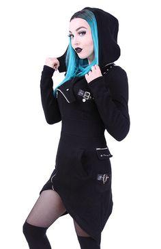 """Veste à capuche Gothique Restyle """"Asymmetric"""""""