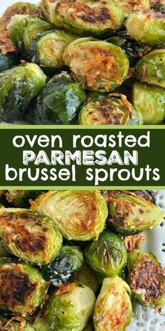 Sprout recipes - Oven Roasted Parmesan Brussel Sprouts Brussel Sprouts Recipe Side Dish Recipe Oven roasted parmesan Brussel sprouts are a quick & easy 20 minute side dish that are healthy and delicious Only a f Veggie Side Dishes, Healthy Side Dishes, Vegetable Dishes, Side Dish Recipes, Food Dishes, Simple Side Dishes, Quick Recipes, Best Side Dishes, Pork Chop Side Dishes