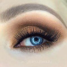 Rich Bronze Shadows | Soft Smokey Eyes | Warm Bronze & Terra-cotta Shadows | Peanut Butter & Jelly Palette | Too Faced Peanut Butter & Jelly Palette Tutorial | Eyeshadows for Blue Eyes