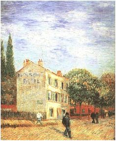 ۩۩ Painting the Town ۩۩ city, town, village house art - Vincent van Gogh | Rispal Restaurant at Asnières