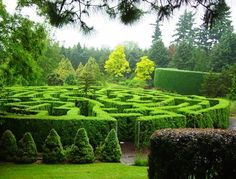 botanical gardens, with fun features like this maze at the VanDusen Botanical Garden in Vancouver, or just with beautiful landscaping