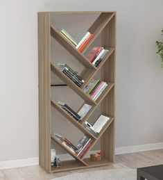 OFF-Dokusho Book Shelf cum Display Unit in Brown Finish by Mintwud unit With Book . - OFF-Dokusho Book Shelf cum Display Unit in Brown Finish by Mintwud unit With Book …, - Tv Unit Bedroom, Living Room Wall Units, Living Room Decor, Wall Bookshelves, Bookshelf Design, Book Shelves, Corner Shelves, Bookcases, Wall Shelves