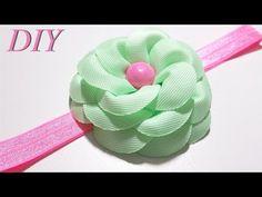 How To Make Hair Bows DIY #97 Grosgrain Ribbon Flower Tutorial - YouTube