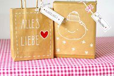Geschenkanhänger für Weihnachten, verpacken, Geschenke dekorieren / gift tags for christmas, merry xmas by -Trudl-und-Traudl- bei DaWanda
