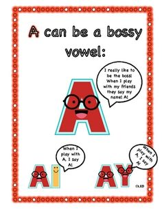 This is a word sort and an activity for the bossy A sound. It is fun to play and includes 'ay', 'a', and 'ai'.