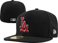 Los Angeles Dodgers 59FIFTY Fashion Black/Scarlet Fitted Hat $34.99 http://stadiumshop.hibbett.com/Los-Angeles-Dodgers-59FIFTY-Fashion-BlackScarlet-Fitted-Hat-_2028936069_PD.html?social=pinterest_pfid28-48491