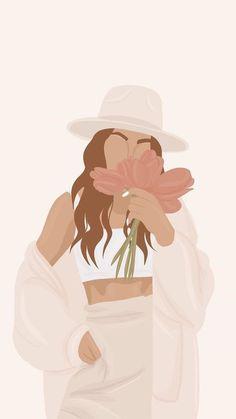 Illustration Mignonne, Illustration Mode, Portrait Illustration, Digital Illustration, Girl Cartoon, Cartoon Art, Cartoon Wallpaper, Iphone Wallpaper, Digital Art Girl