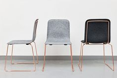 This Chair Felt – Richard Hutten / Lensvelt * See more Copper inspirations at http://www.brabbu.com/en/inspiration-and-ideas/ #CopperLighting #CopperDesign #CopperDecoration