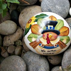 Image result for painted rocks thanksgiving
