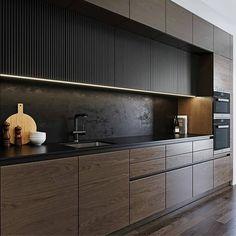 Loft Kitchen, Kitchen Room Design, Modern Kitchen Cabinets, Kitchen Cabinet Design, Kitchen Sets, Home Decor Kitchen, Interior Design Kitchen, Interior Design Games, Home Design