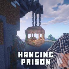 Hanging prison Minecraft Hanging prison Minecraft Batman figures was really favorite Minecraft Castle, Minecraft Medieval, Cute Minecraft Houses, Minecraft Room, Minecraft Plans, Amazing Minecraft, Minecraft Tutorial, Minecraft Blueprints, Minecraft Crafts