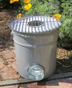 Build A Rocket Stove Made From A Five Gallon Metal Bucket