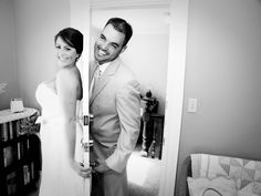 Maine Wedding Photography, unique creative modern romantic, LAD Photography, country rustic wedding, Maple Hill Farm Hallowell Maine, black and white, bride and groom on opposite sides of door