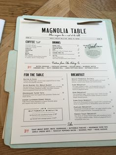 My mom & I are huge Fixer Upper fans and we wanted to plan a get together (she lives in Florida & I live in New England) so what better place to meet up but Texas! This was both of our first times to Waco and boy were we impressed! Do we look a littleRead Menu Restaurant, Diner Menu, Restaurant Design, Magnolia Table Restaurant, Resturant Menu, Restaurant Specials, Restaurant Identity, Cafe Menu Design, Food Menu Design