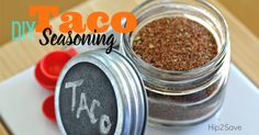 It's easy to make your own homemade taco seasoning with this recipe! It'll save you money & is a healthier option than the store-bought varieties! Make Taco Seasoning, Homemade Ranch Seasoning, Homemade Seasonings, Seasoning Mixes, Seasoning Recipe, Homemade Spices, Homemade Teriyaki Sauce, Homemade Tacos, Mexican Food Recipes