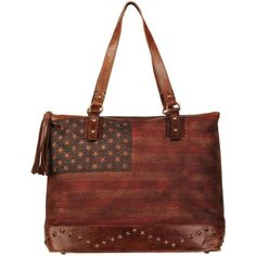 Black Rivet American Flag Large Tote ($140) ❤ liked on Polyvore featuring bags, handbags, tote bags, tote hand bags, tassel handbag, tassel purse, tote handbags and zip top tote