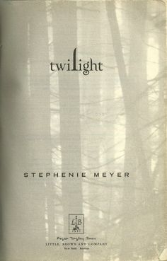 twilight inside cover