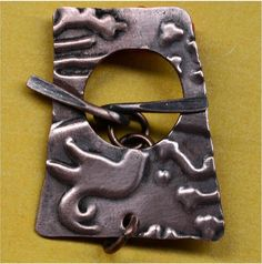 Handmade Embossed Copper Toggle Clasp by SunStones on Etsy, $8.00