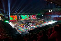 Commonwealth Games Opening, Glasgow 2014.   Screen graphics by ISO <isodesign.co.uk>