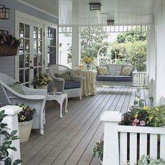Wicker porch