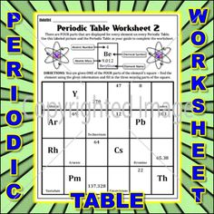 Worksheet periodic table worksheet 3 periodic table worksheets a periodic table worksheet in which students are given one part of the elemental square urtaz Gallery