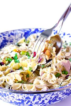 Poppy Seed Pasta Salad with Chicken, Grapes, Almonds & more!