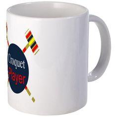 Croquet Player Mugs on CafePress.com