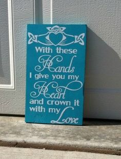 Claddagh With These Hands I Give You My Heart by TheCraftyGeek86, $15.00