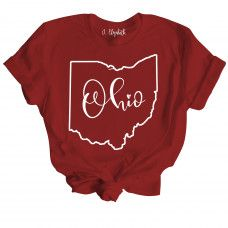 Ohio - Our shirts come in many different colors and styles including V-Neck! #jelizabeth#snarkytees #funnytshirts#snarkytshirts