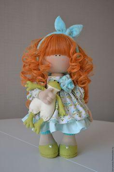 Купить Царевна- лягушка - бирюзовый, оливковый, белый, лягушка, царевна лягушка, кукла