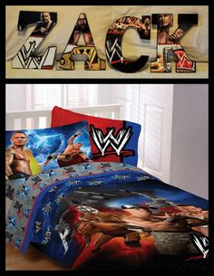 WWE Inspired Wooden Wall Letters Decor >>> Details can be found by clicking on the image. Wwe Bedroom, Kids Bedroom, Bedroom Ideas, Kids Rooms, Wooden Wall Letters, Letter Wall Decor, Childrens Room Decor, Baby Nursery Decor, New Room