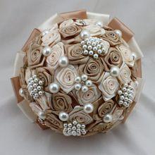 Caliente venta por encargo precioso mano flor de la perla nupcial accesorios Crystal Wedding Bouquet para novias(China (Mainland))