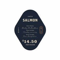 WIP seafood signage design by Refinery43