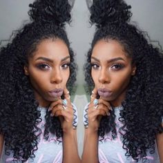 Curly Hair x Top Knot || IG: @beigeojai || Outre Quick Weave Dominican Curly