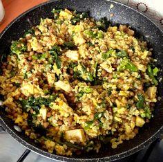 #iomangiosano | Riso integrale con broccoletti, lenticchie e seitan