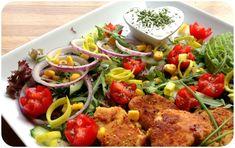lindastuhaug - lidenskap for sunn mat og trening Frisk, Cobb Salad, Pork, Yummy Food, Ethnic Recipes, Desserts, Kale Stir Fry, Tailgate Desserts, Deserts