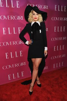 Singer Rita Ora.attends the 4th Annual ELLE Women in Music Celebration at The Edison Ballroom on April 10, 2013 in New York City.
