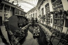 Boat ride through the Gaylord Opryland Resort in Nashville, Tennessee.
