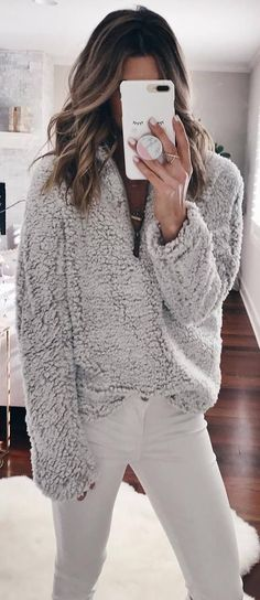 cozy outfit inspiration / sweater and pants
