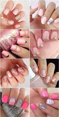 cool and cute pink nail art 2016