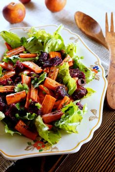 Moroccan Carrot Salad with Blood Oranges - Gluten Free, Vegan