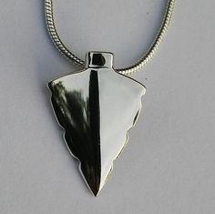 Sterling silver handmade Zulu arrow head on silver snake chain Silver Jewellery, Silver Necklaces, Sterling Silver Jewelry, Handmade Silver, Handcrafted Jewelry, Arrow Head, Zulu, Silver Pendants, Snake