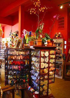 The Ribbonerie store in San Francisco...ribbon eye-candy!