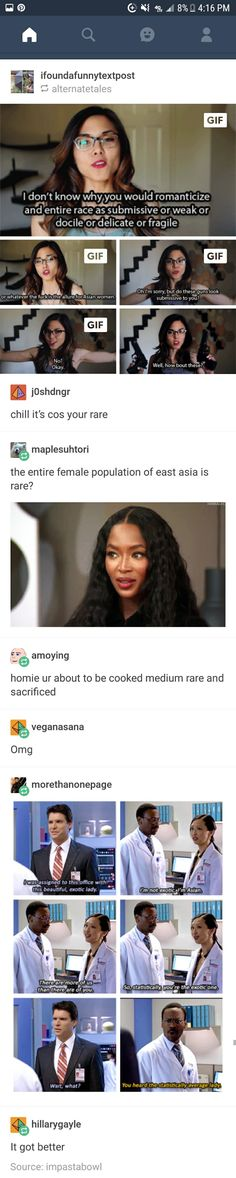 Funny Tumblr posts. Asian women. Feminism. The office. Supernatural.